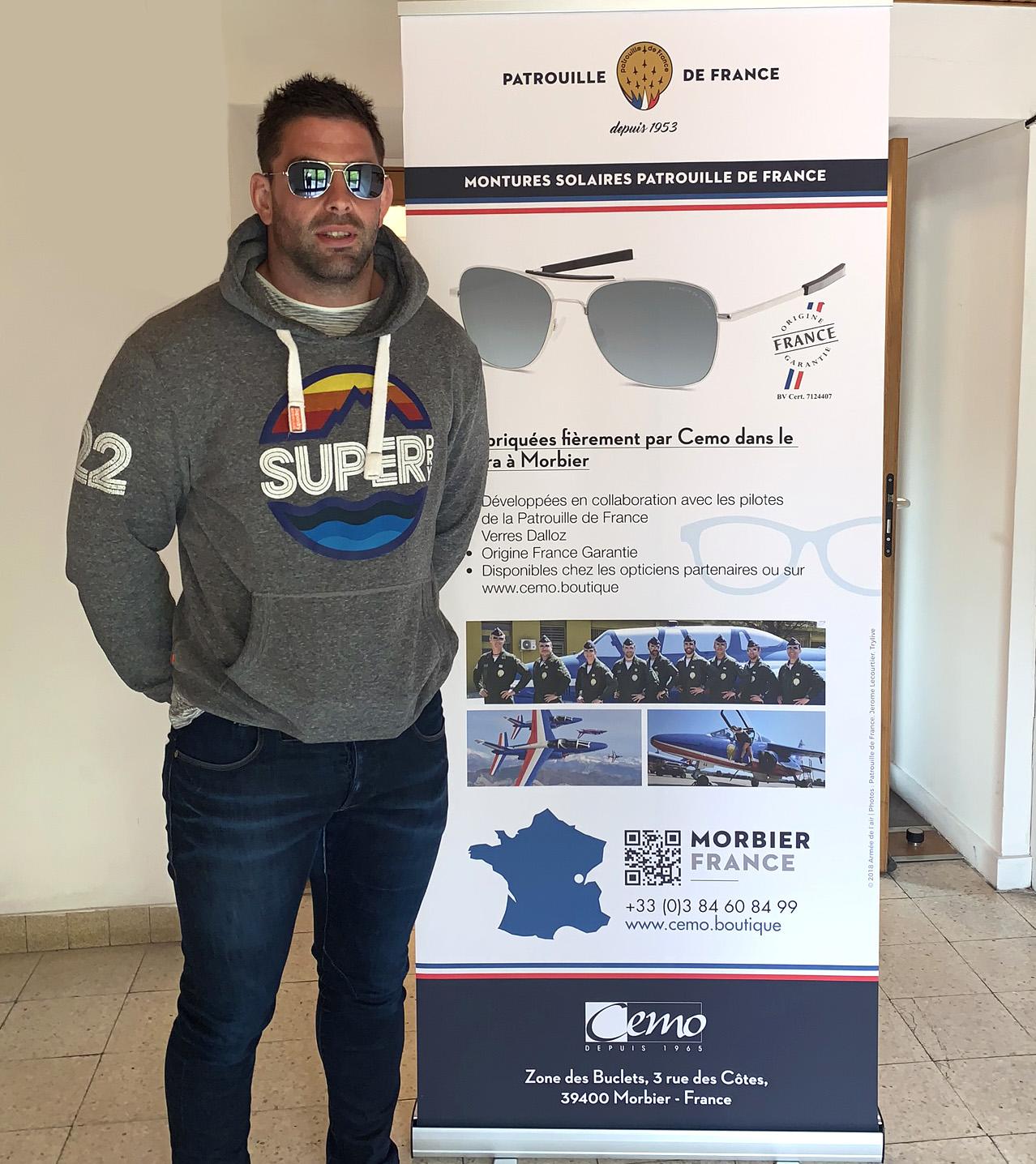 Benjamin Geledan Oyonnax Rugby Lunettes Patrouille de France CEMO